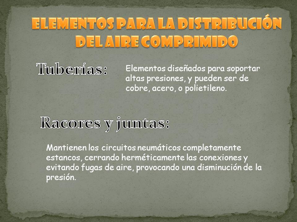 Elementos para la distribución del aire comprimido