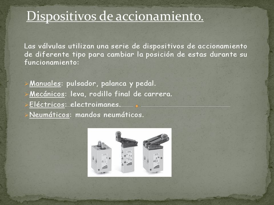Dispositivos de accionamiento.
