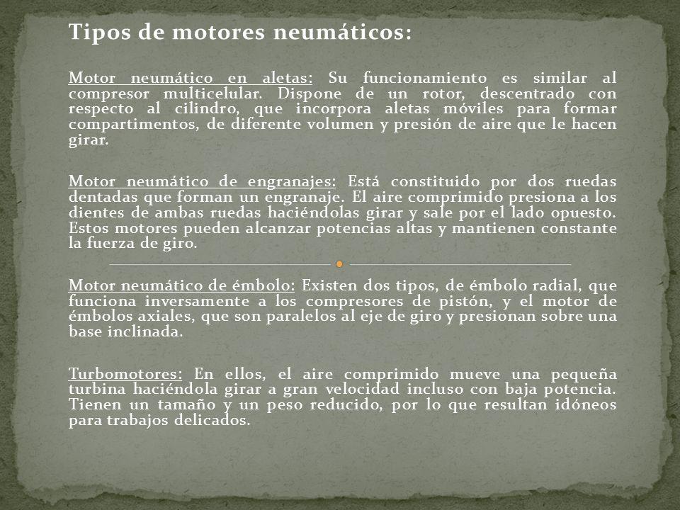 Tipos de motores neumáticos:
