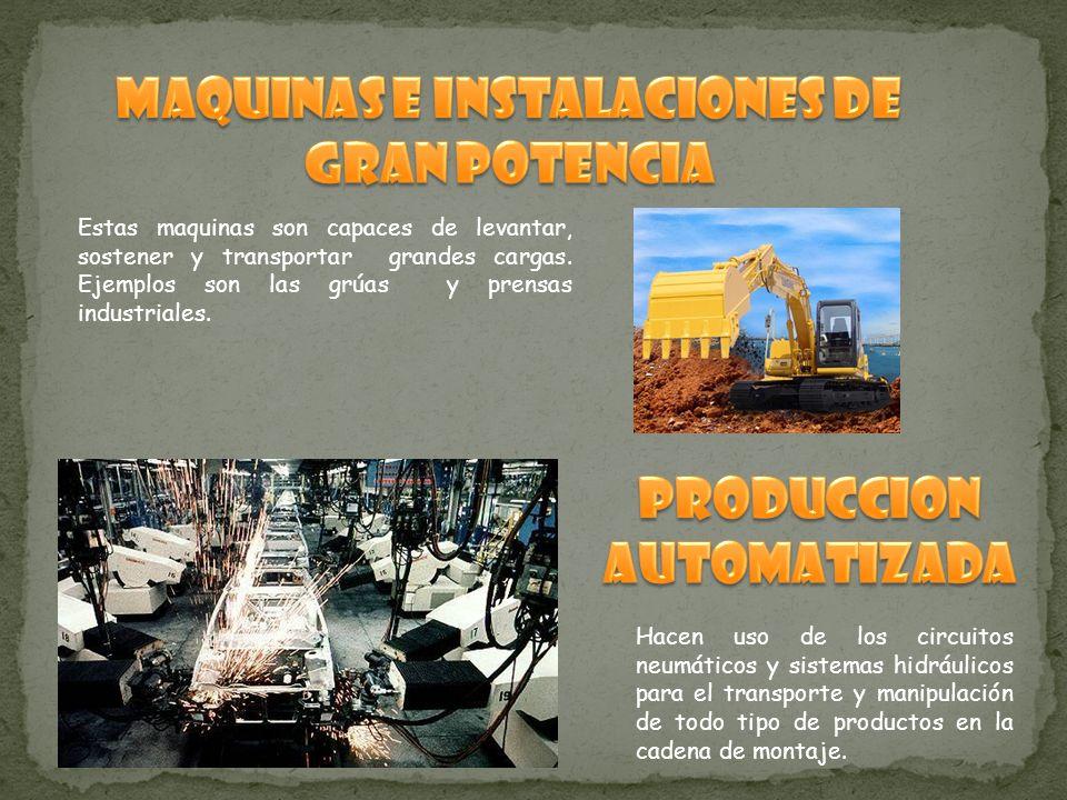 MAQUINAS E INSTALACIONES DE GRAN POTENCIA PRODUCCION AUTOMATIZADA