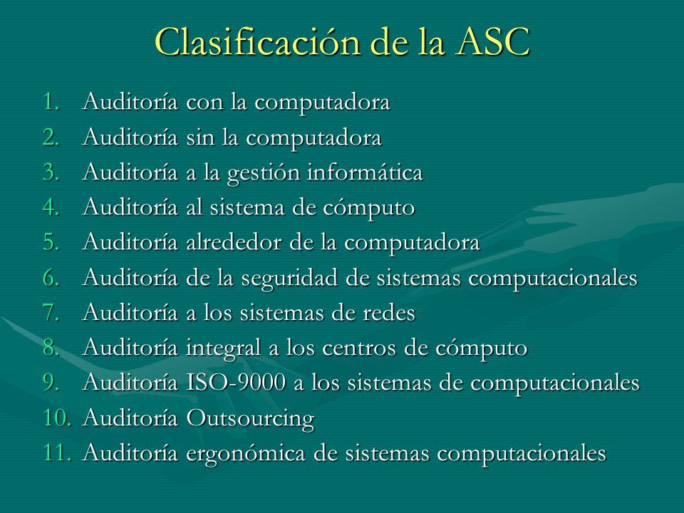 Clasificación de la ASC