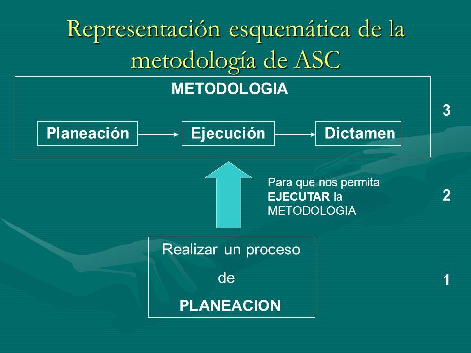 Representación esquemática de la metodología de ASC
