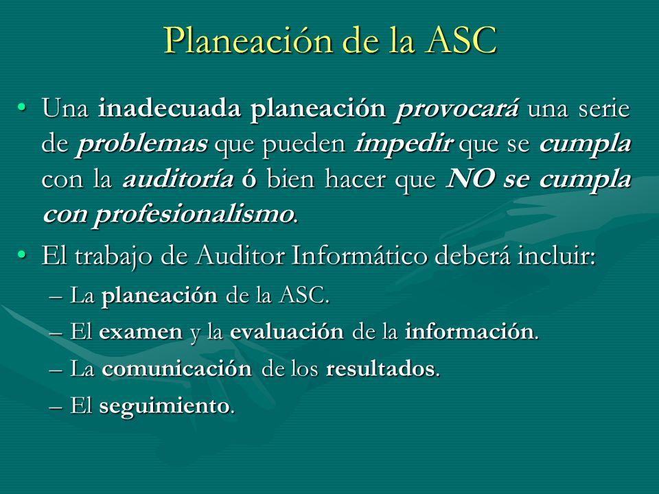 Planeación de la ASC
