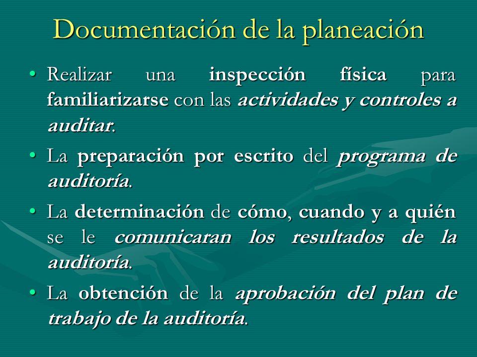 Documentación de la planeación
