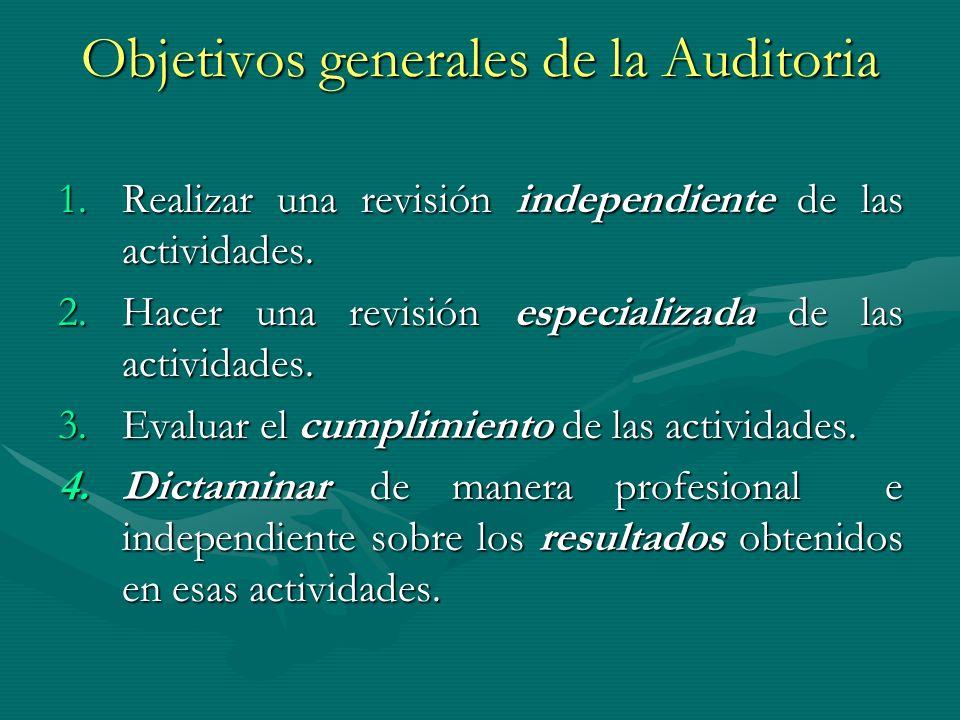 Objetivos generales de la Auditoria