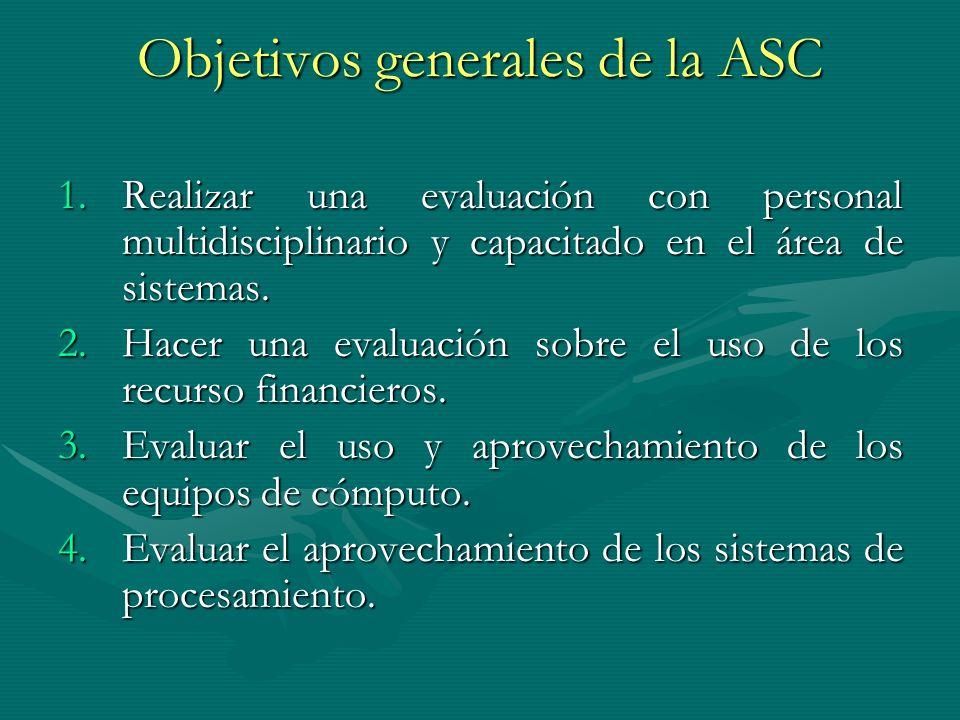 Objetivos generales de la ASC