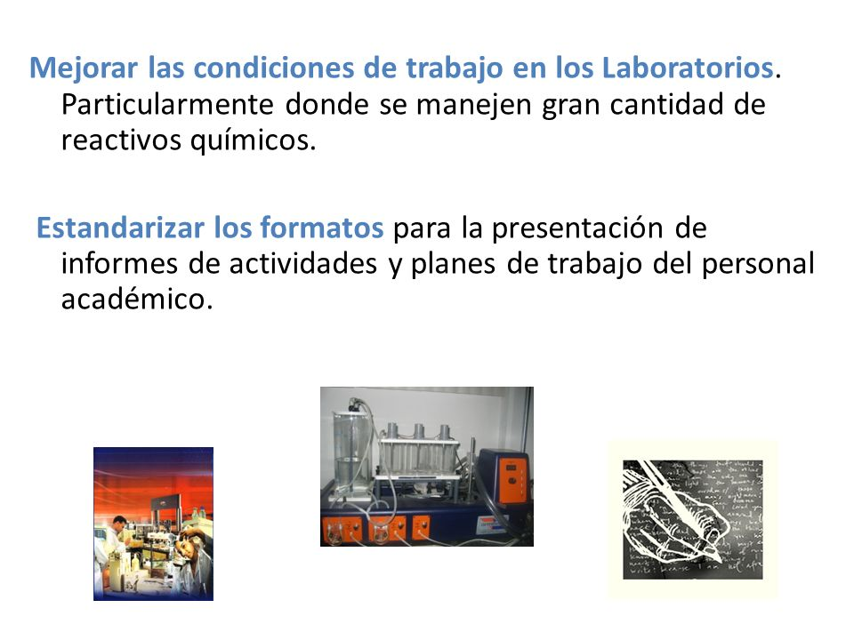 Mejorar las condiciones de trabajo en los Laboratorios