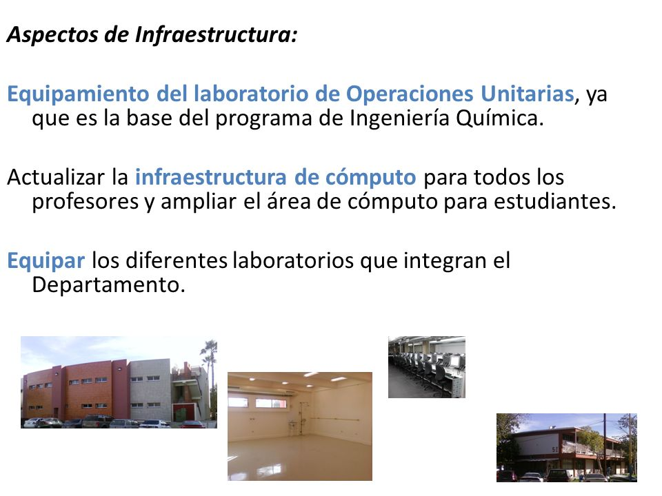 Aspectos de Infraestructura: