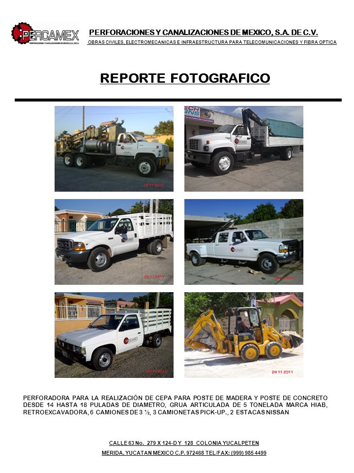 PERFORACIONES Y CANALIZACIONES DE MEXICO, S. A. DE C. V