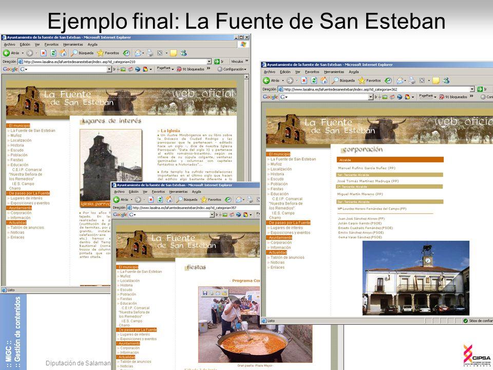 Ejemplo final: La Fuente de San Esteban