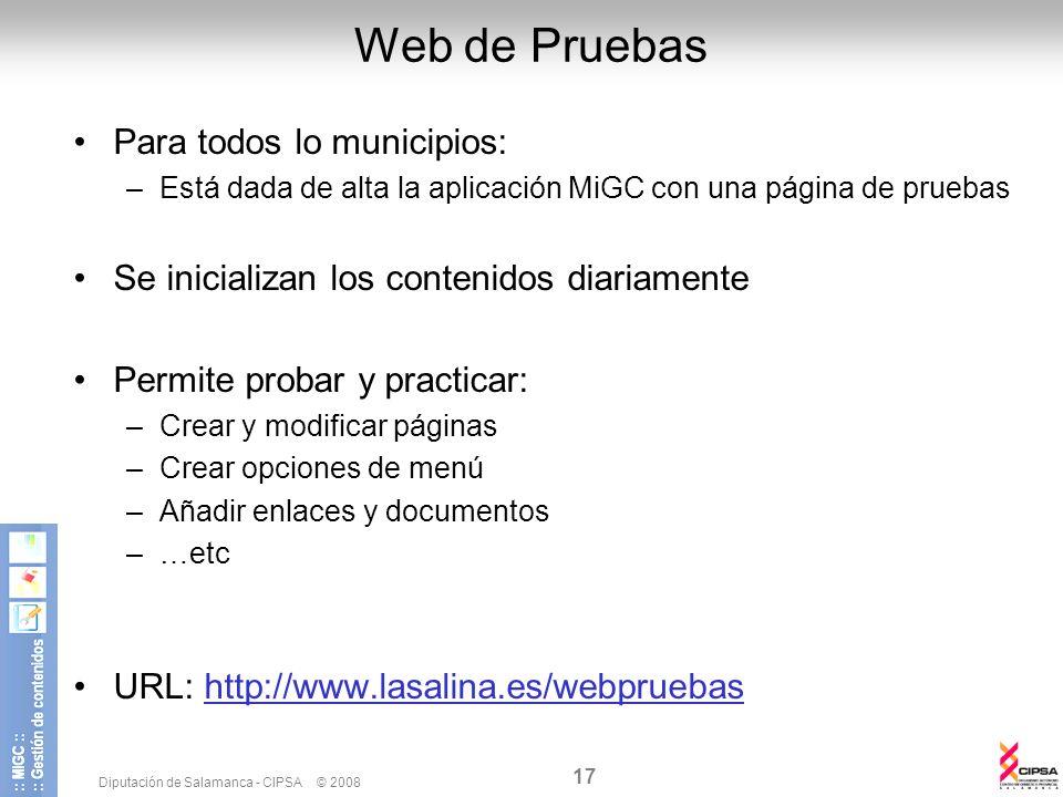 Web de Pruebas Para todos lo municipios: