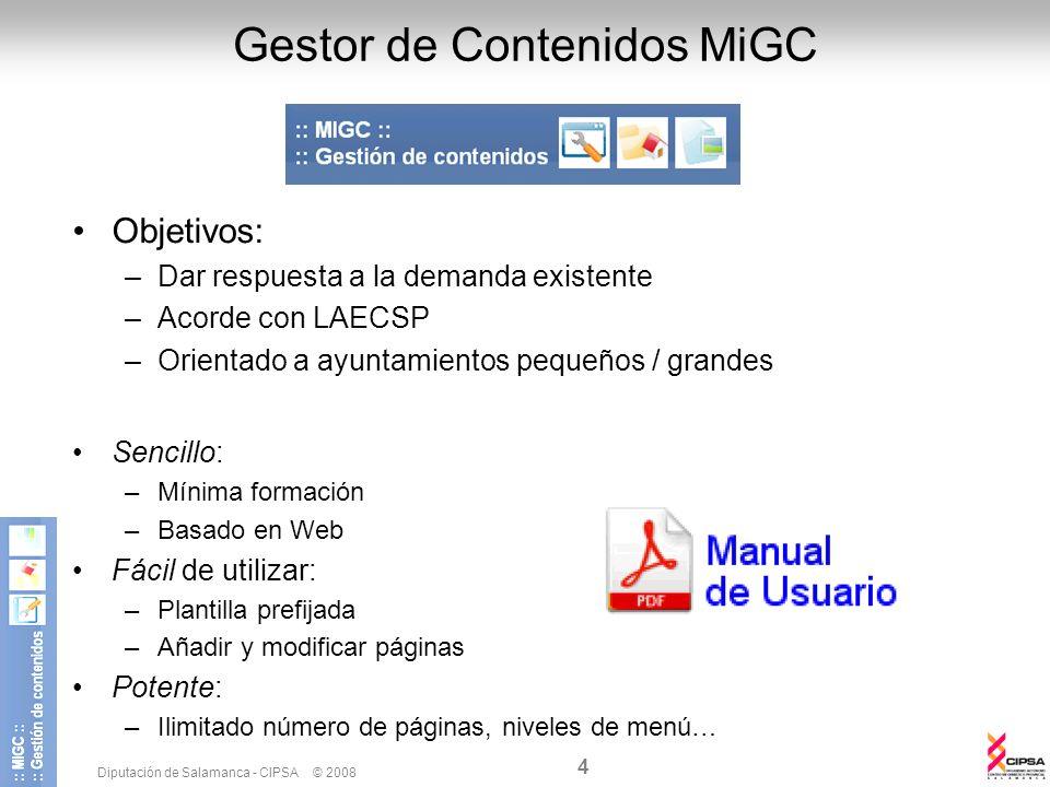 Gestor de Contenidos MiGC