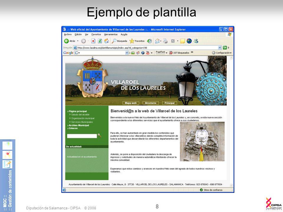Ejemplo de plantilla Diputación de Salamanca - CIPSA © 2008