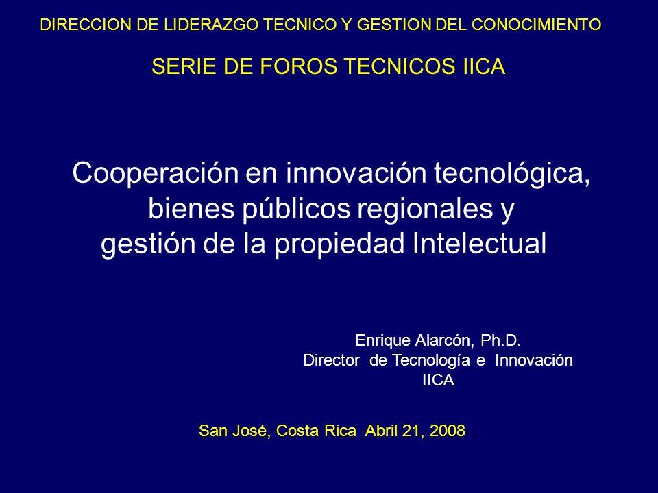 Cooperación en innovación tecnológica, bienes públicos regionales y