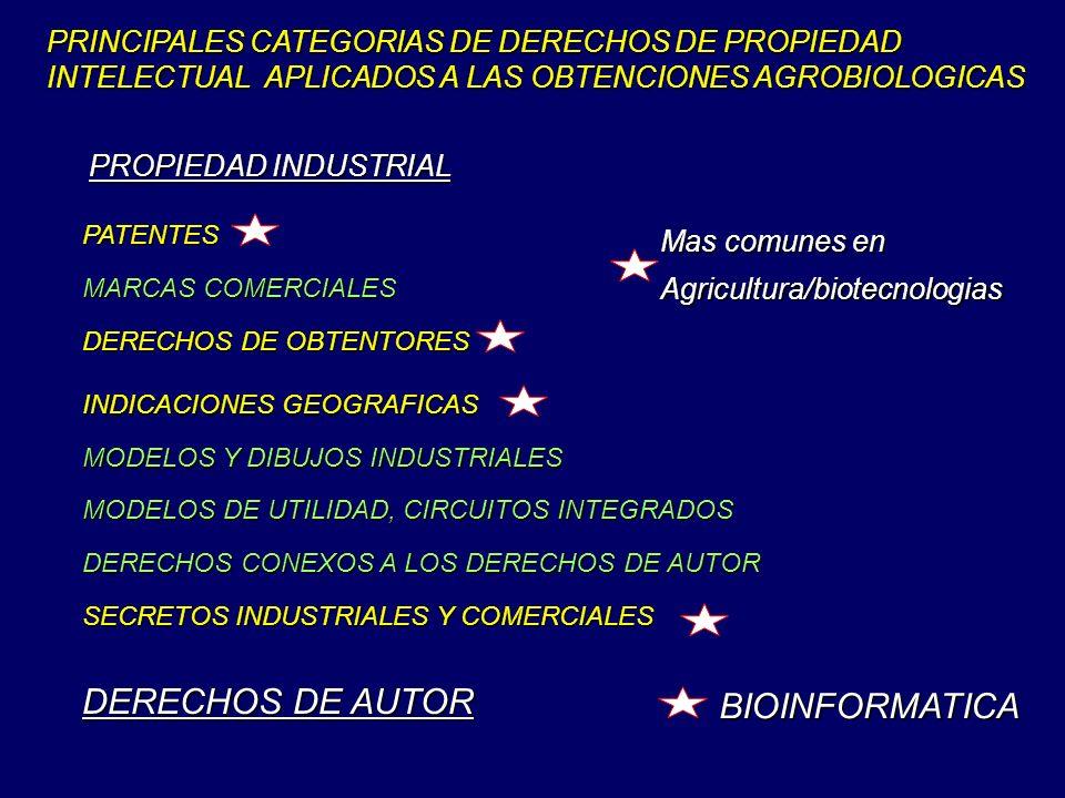 DERECHOS DE AUTOR BIOINFORMATICA