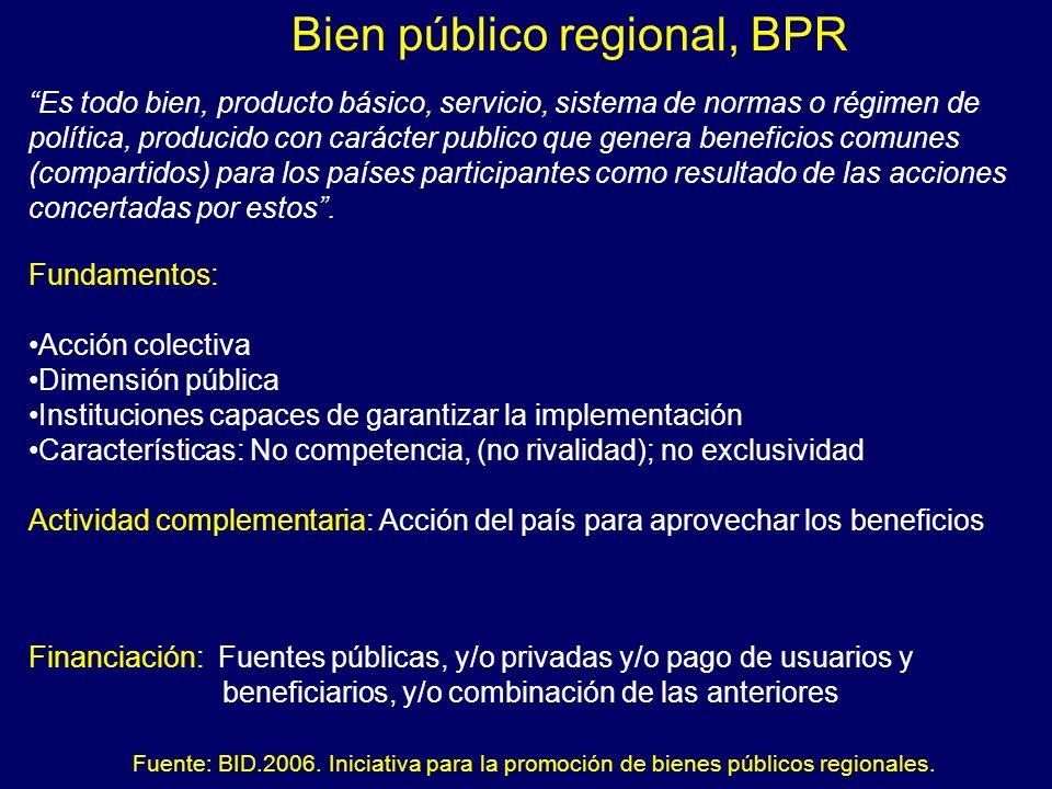 Bien público regional, BPR