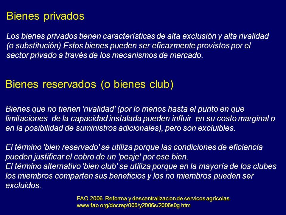 Bienes reservados (o bienes club)