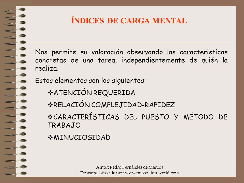 ÍNDICES DE CARGA MENTAL