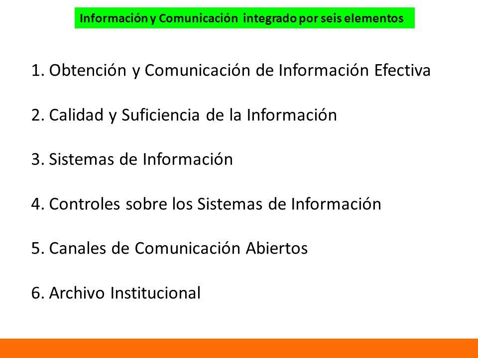 Obtención y Comunicación de Información Efectiva