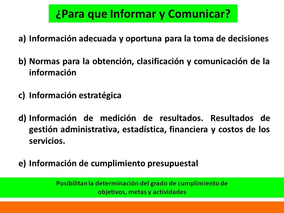 ¿Para que Informar y Comunicar