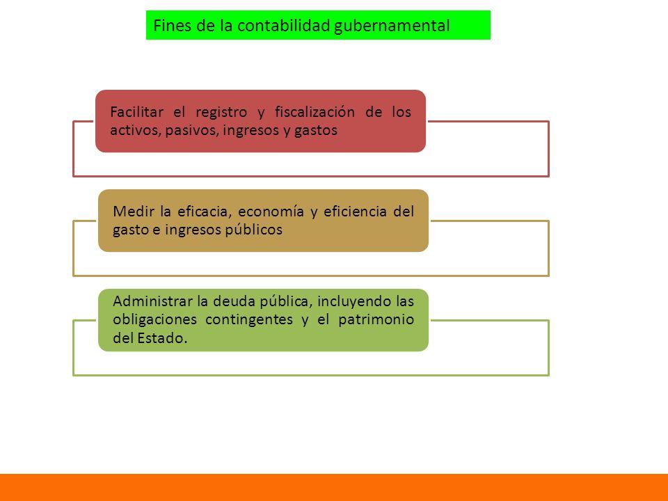 Fines de la contabilidad gubernamental