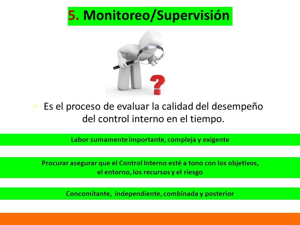 5. Monitoreo/Supervisión