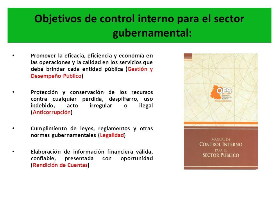 Objetivos de control interno para el sector gubernamental: