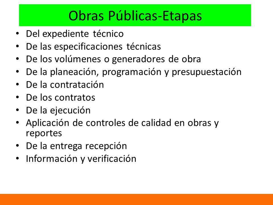 Obras Públicas-Etapas