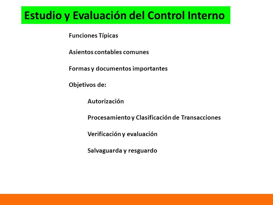 Estudio y Evaluación del Control Interno