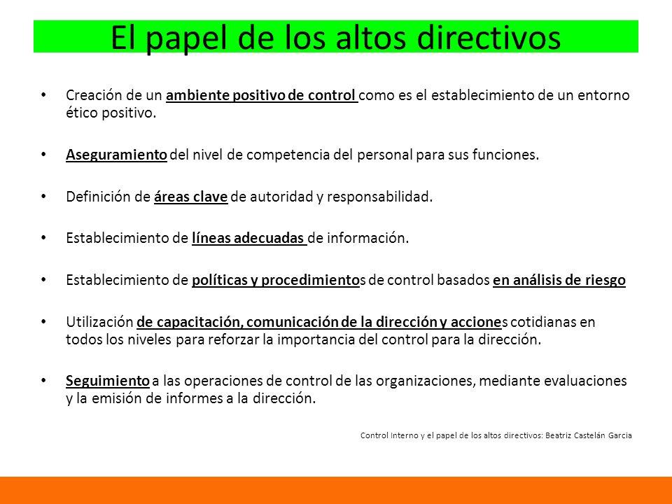 El papel de los altos directivos