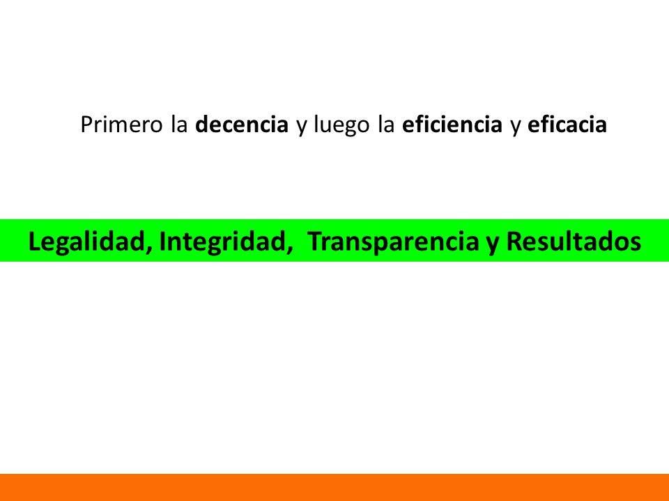 Legalidad, Integridad, Transparencia y Resultados