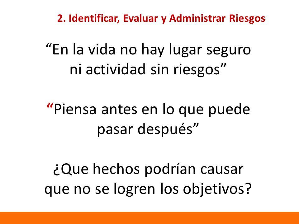 2. Identificar, Evaluar y Administrar Riesgos