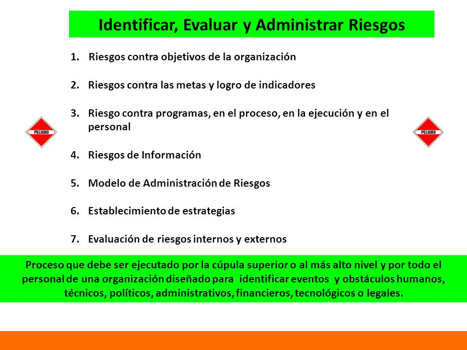 Identificar, Evaluar y Administrar Riesgos