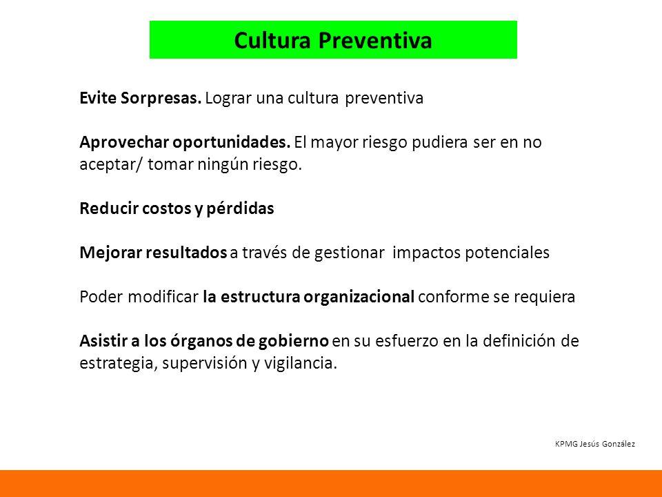 Cultura Preventiva Evite Sorpresas. Lograr una cultura preventiva