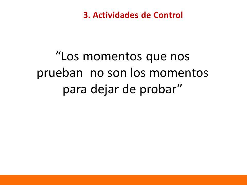 3. Actividades de Control