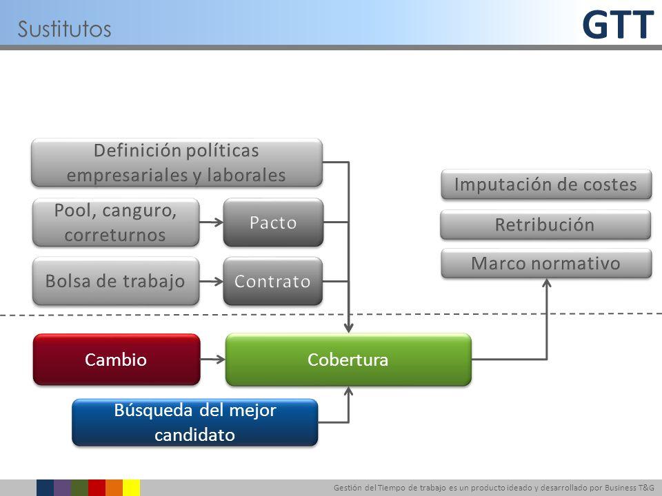 Sustitutos Definición políticas empresariales y laborales