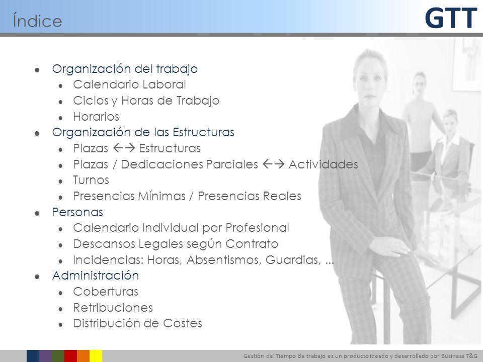 Índice Organización del trabajo Calendario Laboral