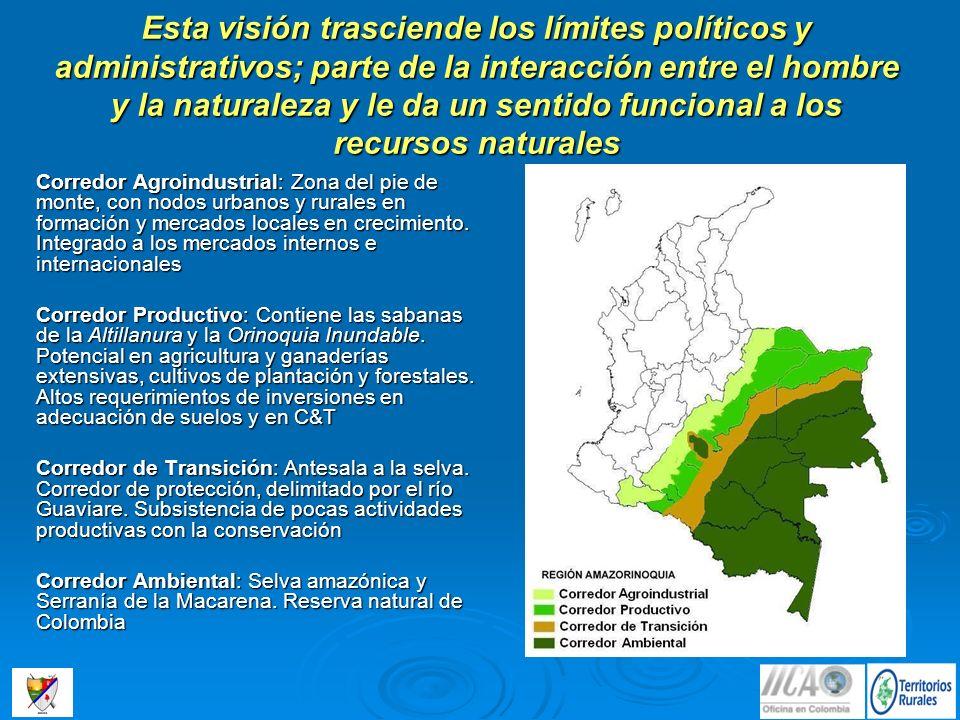 Esta visión trasciende los límites políticos y administrativos; parte de la interacción entre el hombre y la naturaleza y le da un sentido funcional a los recursos naturales