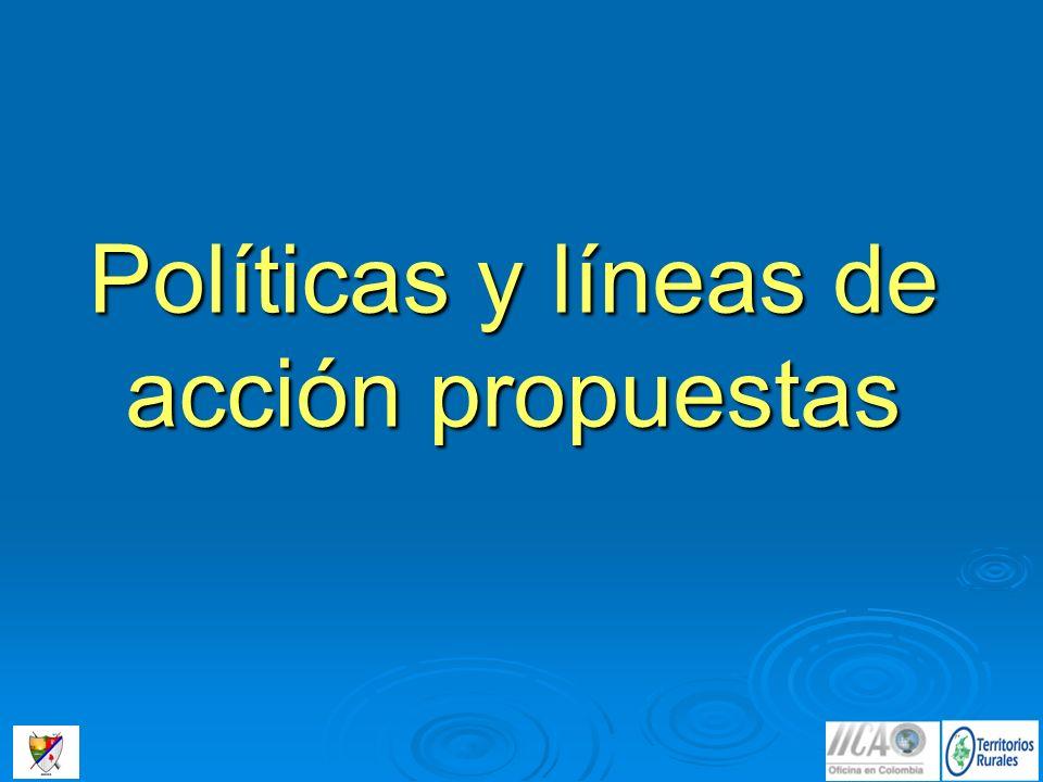 Políticas y líneas de acción propuestas
