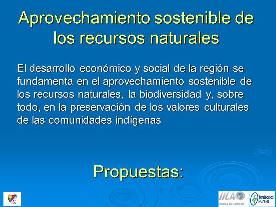 Aprovechamiento sostenible de los recursos naturales