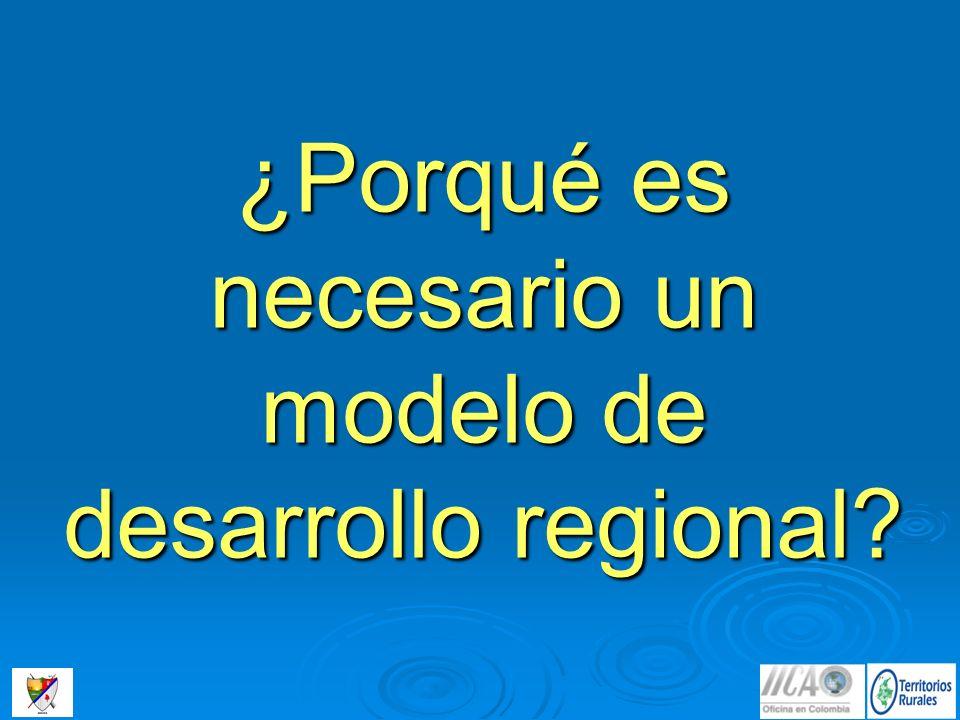 ¿Porqué es necesario un modelo de desarrollo regional