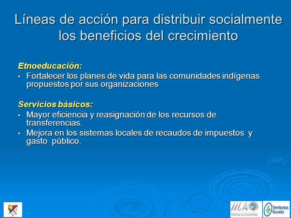 Líneas de acción para distribuir socialmente los beneficios del crecimiento