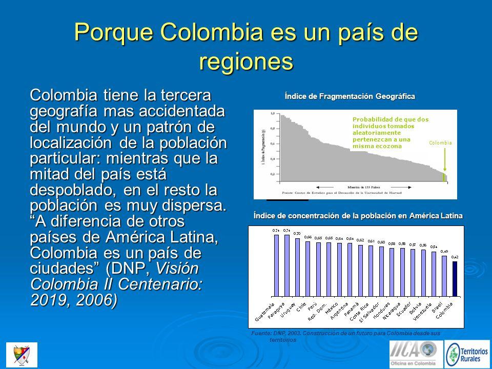 Porque Colombia es un país de regiones