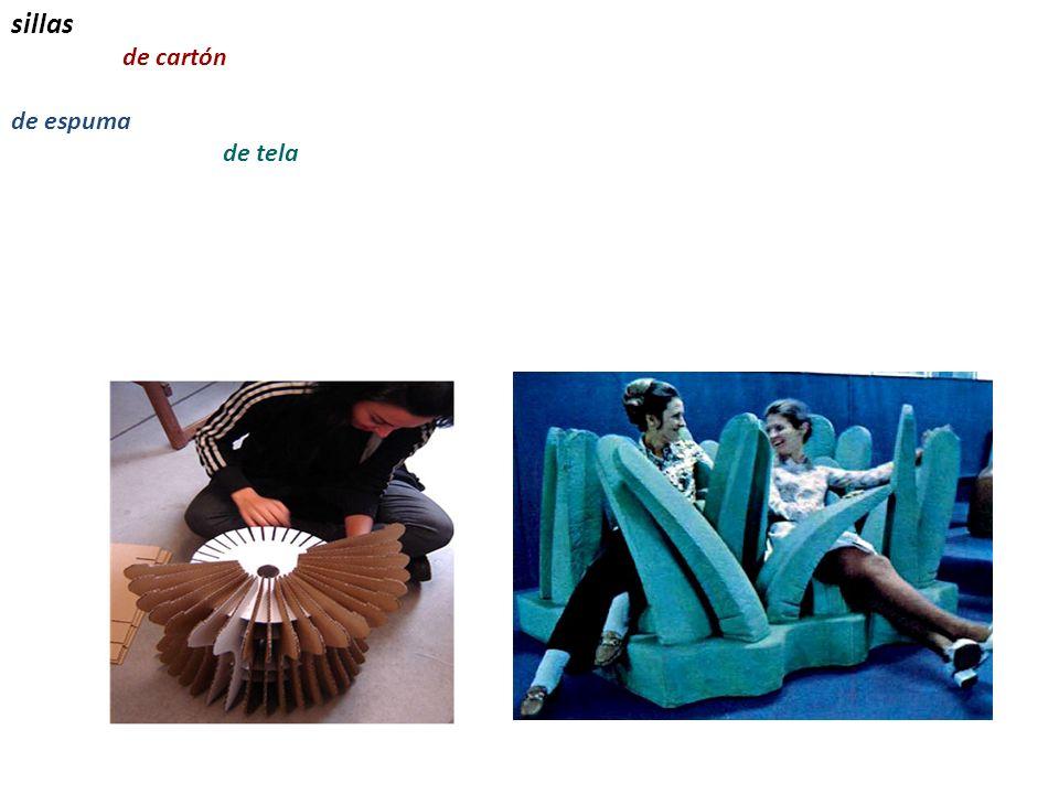 sillas de cartón de espuma de tela