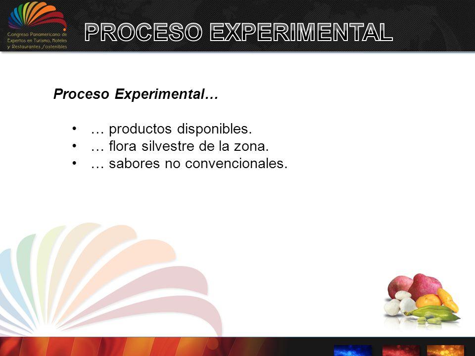 PROCESO EXPERIMENTAL Proceso Experimental… … productos disponibles.