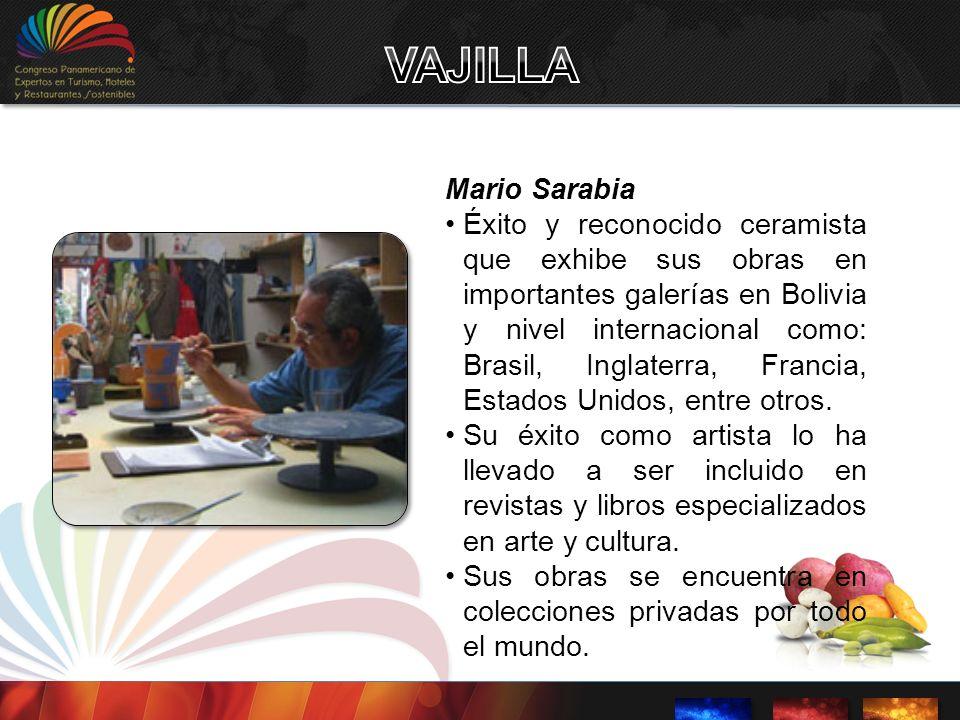 VAJILLA Mario Sarabia.