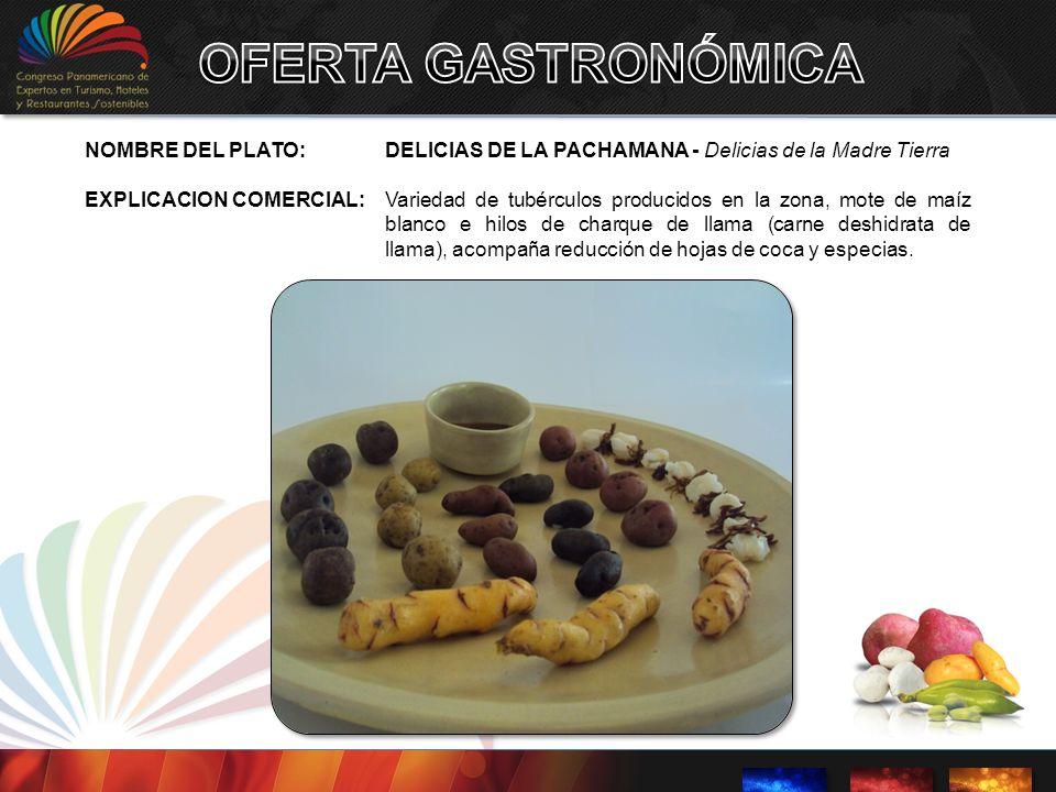 OFERTA GASTRONÓMICA NOMBRE DEL PLATO: DELICIAS DE LA PACHAMANA - Delicias de la Madre Tierra.