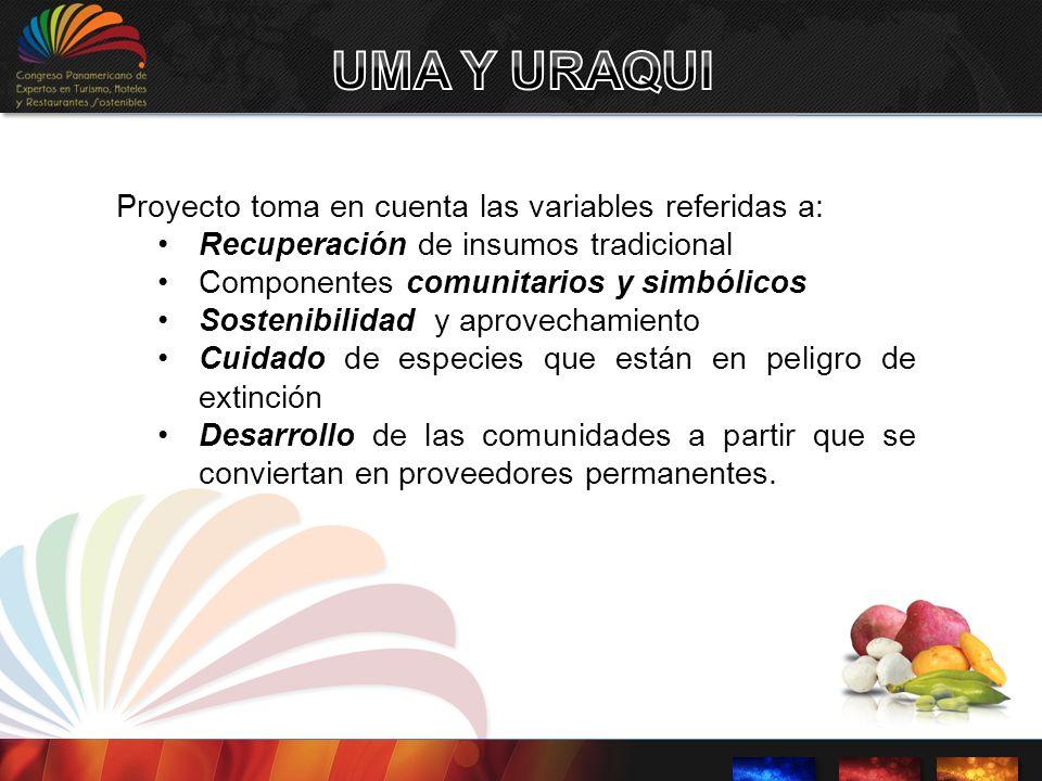 UMA Y URAQUI Proyecto toma en cuenta las variables referidas a: