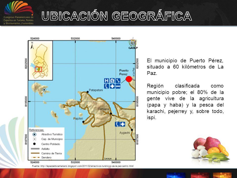 UBICACIÓN GEOGRÁFICA El municipio de Puerto Pérez, situado a 60 kilómetros de La Paz.