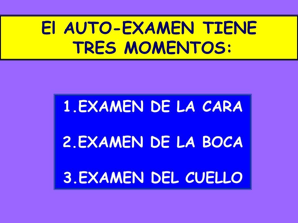 El AUTO-EXAMEN TIENE TRES MOMENTOS: